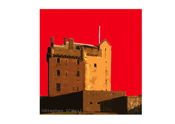 Quirky Coo - Broughty Ferry Castle Print by Stephen O'Neil