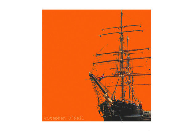 Quirky Coo - Stephen O'Neil print of Captain Scott's RSS Discovery in Dundee