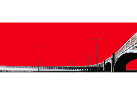Print of theTay Rail Bridge, Dundee by Stephen O'Neil