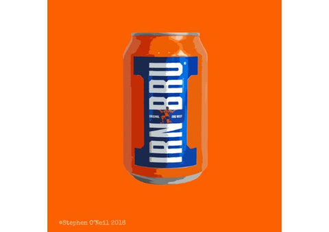 Girders Irn Bru Print by Stephen O'Neil