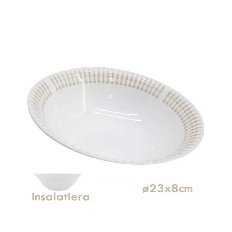 Insalatiera 23cm Decorata 12pz - IMEX Shop