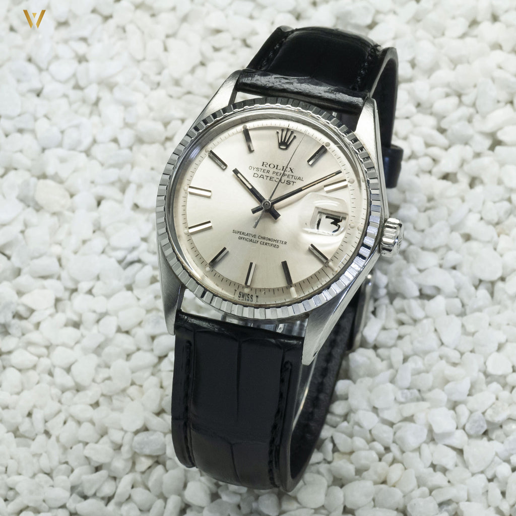 Bracelet de montre Croco Square noir 20 mm et datejust rolex