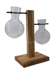 Wooden Multi-Level Propagation Station - Circular Glass Bulbs