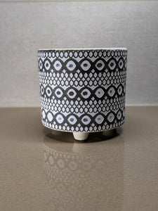 Swirl and Geometric Design Plant Flower Pot