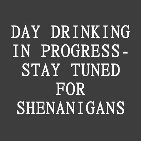 Day Drinking in Progress - Stay Tuned For Shenanigans (Men's)