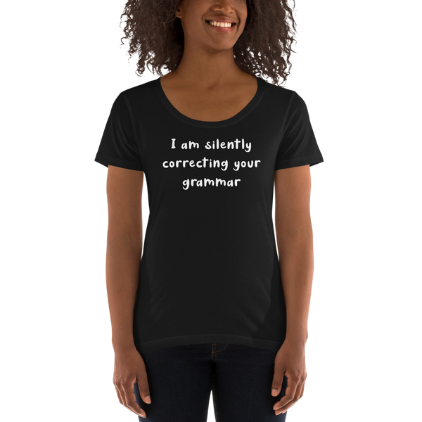 I am silently correcting your grammar (Women's)