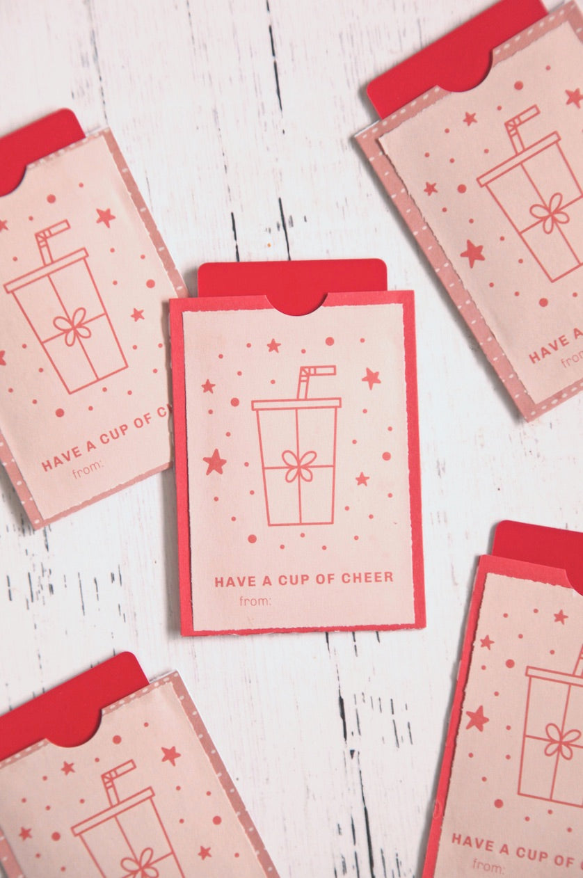 Drink Christmas Gift Tag
