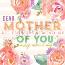 Load image into Gallery viewer, Dear Mother Printable Gift Tag