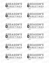 Load image into Gallery viewer, Season's Greetings Printable Tag