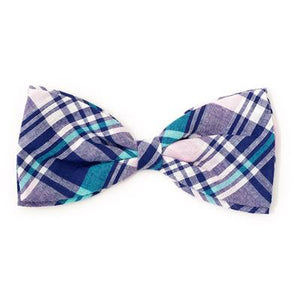 Madras Plaid Navy/Pink/Turq Bow Tie