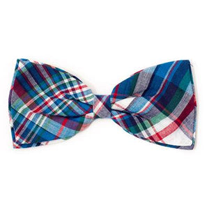 Madras Plaid Blue/Navy/Multi Bow Tie