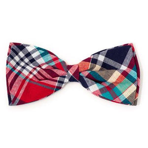 Madras Plaid Red/Navy/Multi Bow Tie