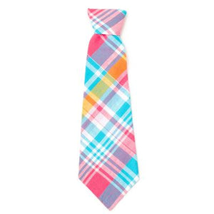 Madras Plaid Turquoise/Pink/Multi Neck Tie