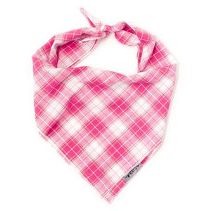 Madras Plaid Pink/White Bandana