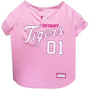 Detroit Tigers Pink Pet Jersey