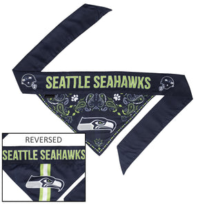 Seattle Seahawks Pet Reversible Paisley Bandana