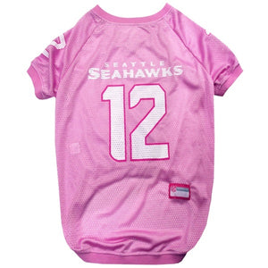 "Seattle Seahawks ""12th Man"" Pink Pet Jersey"