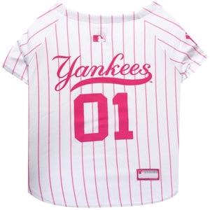 New York Yankees Pink Pet Jersey