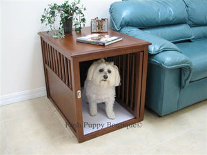 Eco-Friendly Pet Crate Table- Espresso