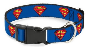 Superman Shield Blue Pet Collar