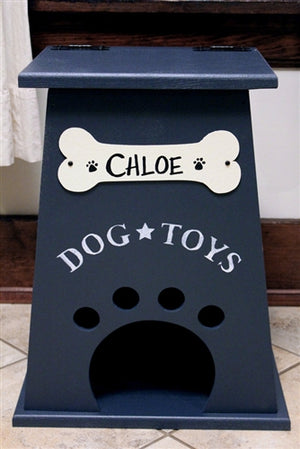 Personalized Dog Toy Box- Navy