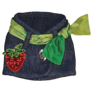 Hollywood Vest with Strawberry Patch- Three Collar Styles