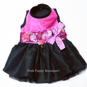Kaitlyn Silk Dog Harness Dress