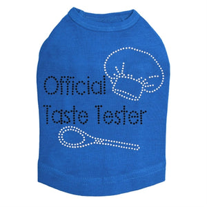 Official Taste Tester Dog Tank- Many Colors