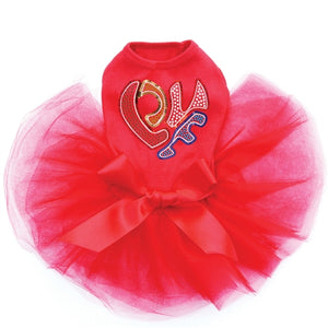 Love Sequin Heart Tutu Dress- Three Colors