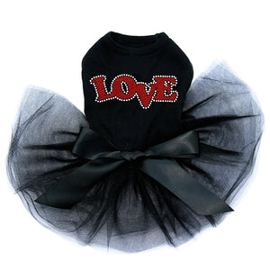 Love - Red Glitter Tutu Dress- Three Colors