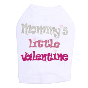 Mommy's Little Valentine Nailheads Tank- Many Colors