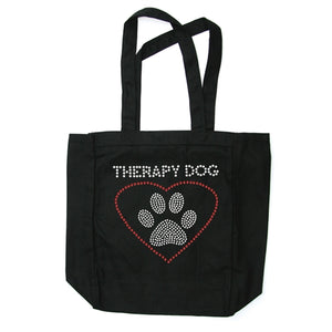 Therapy Dog Canvas Tote Bag in Many Colors