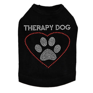 Therapy Dog Rhinestones Tank- Many Colors