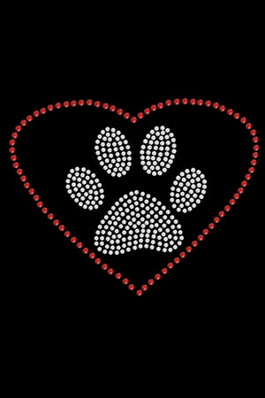 Heart with Paw Bandana- Many Colors