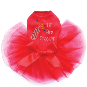 Lil' Firecracker Rhinestone Tutu Dresses- Three Colors