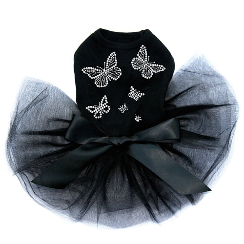 Rhinestone Butterflies Tutu Dress- Three Colors