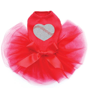 Baseball Heart Tutu in 3 Colors