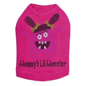 Mommy's Lil Monster Pink Rhinestone Dog Tank- Many Colors