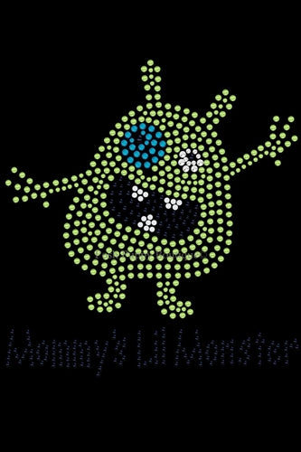 Mommys Lil Monster Green Rhinestone Bandana- Many Colors