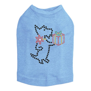 Scotty with Gift Rhinestone Dog Tank - Many Colors