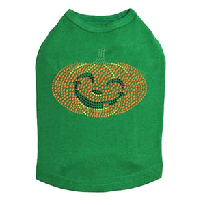 Smilling Jack-o-Lantern Rhinestone Tank Top - Many Colors