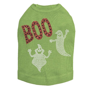 Orange Glitter Boo with Rhinestone Ghost Tank Top - Many Colors