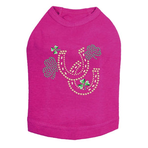 Shamrocks & Horseshoes Rhinestone Dog Tank- Many Colors