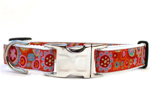 Ibiza Gumdrop Bright Collar Silver Metal Buckles
