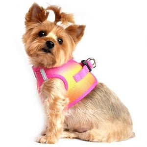 American River Ultra Choke Free Dog Harness- Ombre Collection -Raspberry Pink and Orange