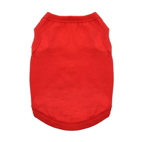Cotton Dog Tank - Flame Scarlet Red