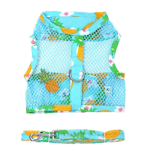 Cool Mesh Dog Harness with Leash - Pineapple Luau