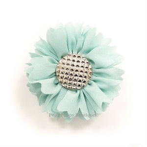 Flower 1 Collar Slider Flower Bow- Blue