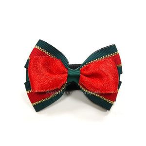 Collar Slider Bow Tie- Christmas 3 Red