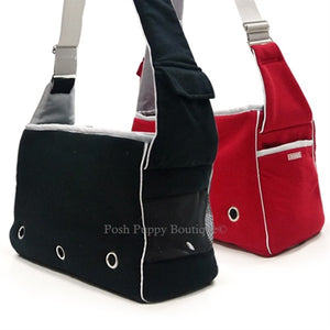 Boxy Messenger Bag Carrier- Red